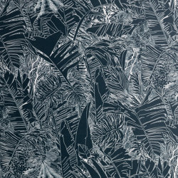 Jungle | White on black wallpaper | Carta parati / tappezzeria | Petite Friture
