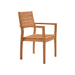 Horizon Armchair with Teak Seat & Back | Chairs | Barlow Tyrie