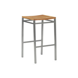 Equinox High Dining Stool with Teak Seat | Bar stools | Barlow Tyrie