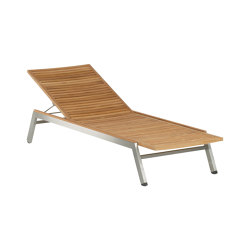 Equinox Lounger with Teak Seat & Back (Optional cushion code: 800006) | Sun loungers | Barlow Tyrie