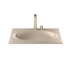 BASINS | Coutertop Washbasin 770 mm | Greige | Wash basins | Armani Roca