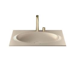 BASINS | Coutertop Washbasin 770 mm | Greige | Wash basins | Armani Roca