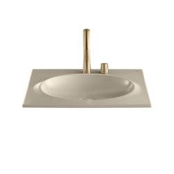 BASINS | Coutertop Washbasin 650 mm | Greige | Wash basins | Armani Roca