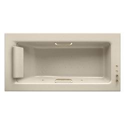 BATHS | Built-in bathtub 2145 x 1100 mm with Soft-Air massage | Greige | Bathtubs | Armani Roca