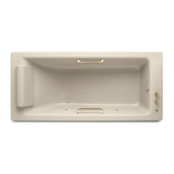 BATHS | Built-in bathtub 1800 x 800 mm with Soft-Air massage | Greige | Bathtubs | Armani Roca