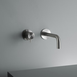 Ottavo | Stainless steel Wall mounted mixer with spout | Wash basin taps | Quadrodesign