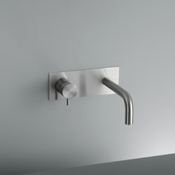 Ottavo | Stainless steel Wall mounted mixer with spout | Wash basin taps | Quadro