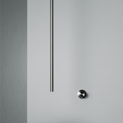 Ottavo | Stainless steel Wall mounted mixer with ceiling spout | Wash basin taps | Quadro