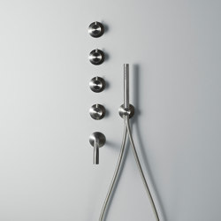 Ottavo | Stainless steel thermostatic mixer set | Shower controls | Quadrodesign