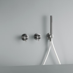 Ottavo | Stainless steel Wall mounted mixer set with hand shower | Shower controls | Quadro
