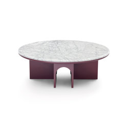 Arcolor Small Table 100 - Version with Carrara Marble Top | Coffee tables | ARFLEX