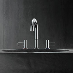 AXOR Uno 3-hole basin mixer 200 loop handle with pop-up waste set | Wash basin taps | AXOR