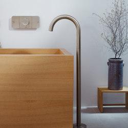 AXOR Uno Bath spout floor-standing curved | Bath taps | AXOR