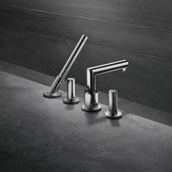 AXOR Uno 4-hole rim mounted bath mixer zero handle | Bath taps | AXOR