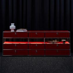 USM Haller E | USM Ruby Red | Sideboards | USM