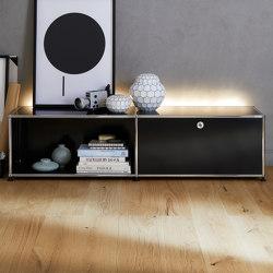 USM Haller E | Graphite Black | Sideboards | USM