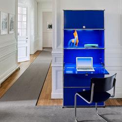 USM Haller E | Gentian Blue | Display cabinets | USM