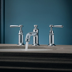 AXOR Montreux 3-hole basin mixer 30 with pop-up waste set and lever handles | Wash basin taps | AXOR