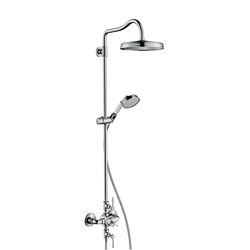 AXOR Montreux Showerpipe with thermostatic mixer and 1jet overhead shower | Shower controls | AXOR