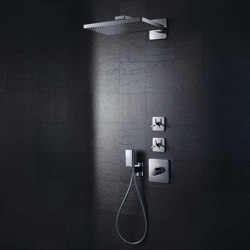 AXOR Shower Collection Overhead shower 460 / 300 1jet with shower arm and softcube escutcheons | Shower controls | AXOR