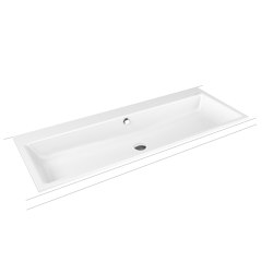 Puro built-in double washbasin alpine white | Lavabos | Kaldewei