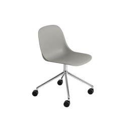 Fiber Side Chair | Swivel Base With Castors | Sillas | Muuto