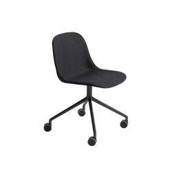 Fiber Side Chair | Swivel Base With Castors | Textile | Sillas | Muuto
