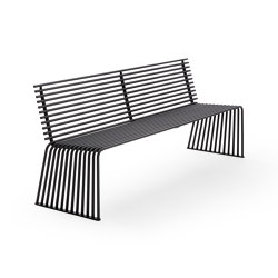 ZEROQUINDICI.015 SEAT WITH BACKREST | Benches | Diemmebi