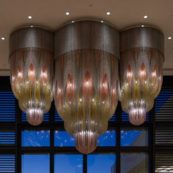 Custom Mandala No.1 - Crown Perth | Suspended lights | Willowlamp
