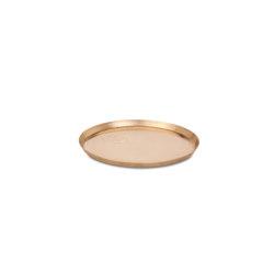 Edge Brass Plate Ø18 | Bandejas | Skagerak