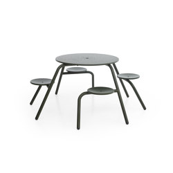 Virus 4-seater | Tables and benches | extremis