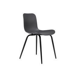 Langue Avantgarde Dining Chair, Black / Anthracite Black | Sillas | NORR11
