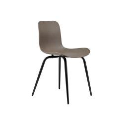 Langue Avantgarde Dining Chair, Black / Gargoyle Brown | Sillas | NORR11