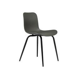Langue Avantgarde Dining Chair, Black / Army Green | Sillas | NORR11