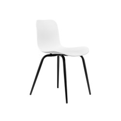 Langue Avantgarde Dining Chair, Black / Off White | Sillas | NORR11