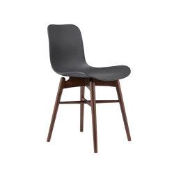 Langue Original Dining Chair, Dark Stained / Anthracite Black | Sillas | NORR11