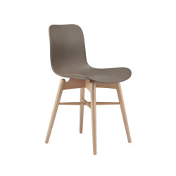 Langue Original Dining Chair, Natural /  Gargoyle Brown | Sillas | NORR11