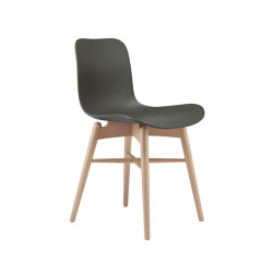Langue Original Dining Chair, Natural /  Army Green | Sillas | NORR11
