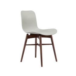 Langue Original Dining Chair, Dark Stained / Flint Grey | Sillas | NORR11