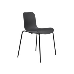 Langue Stack Dining Chair, Black / Anthracite Black | Sillas | NORR11