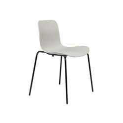 Langue Stack Dining Chair, Black / Flint Grey | Sillas | NORR11