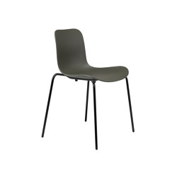 Langue Stack Dining Chair, Black / Army Green | Sillas | NORR11