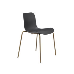 Langue Stack Dining Chair, Brass / Anthracite Black | Sillas | NORR11