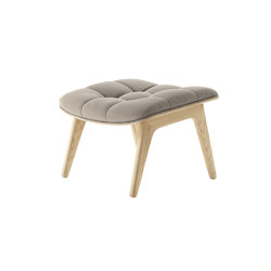 Mammoth Ottoman, Natural / Canvas Washed Beige 05 | Poufs / Polsterhocker | NORR11