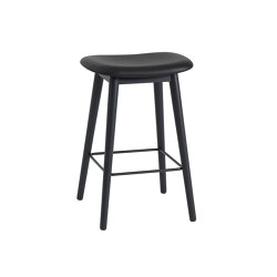 Fiber Counter Stool | Wood Base | Leather | Barhocker | Muuto
