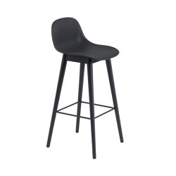 Fiber Bar Stool | Wood Base | Bar stools | Muuto