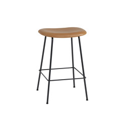 Fiber Counter Stool | Tube Base | Leather | Taburetes de bar | Muuto