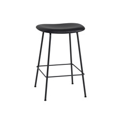 Fiber Counter Stool | Tube Base | Leather | Barhocker | Muuto