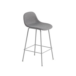 Fiber Counter Stool | Tube Base | Textile | Bar stools | Muuto