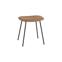Fiber Stool | Tube Base | Leather | Poufs | Muuto